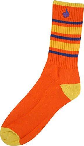 Bro Style Big Gestreiftes Crew Socks Single Set Orange