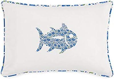 Southern Tide Laurel Falls Decorative Pillow, 12 W x 18 L, White
