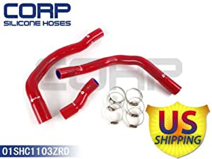 GPLUS SILICONE RADIATOR HOSE HOSES FIT FOR BMW MINI COOPER R53 2001-2006 RED