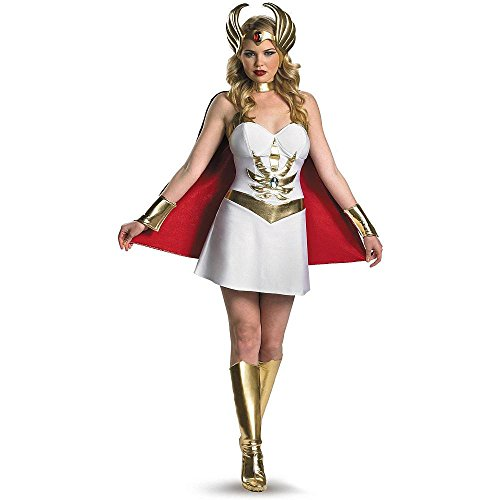 Disguise Inc - Masters Of The Universe - She-Ra Adult Costume, Large (12-14),White / Red / Gold (Tv Costume Ideas)