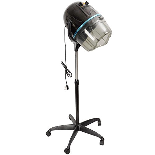 Giantex Adjustable Hood Floor Hair Bonnet DRYER Stand Up Rolling Base Salon Wheels