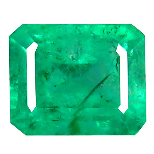 0.56 ct Octagon Cut (5 x 4 mm) Colombian Emerald Natural Loose Gemstone