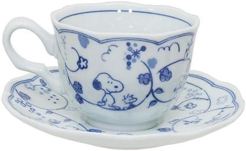 Kanesho Pottery Peanuts Snoopy Mug Cup,Rice Bowl,Plate Set Arabesque Pattern 630741 from Japan