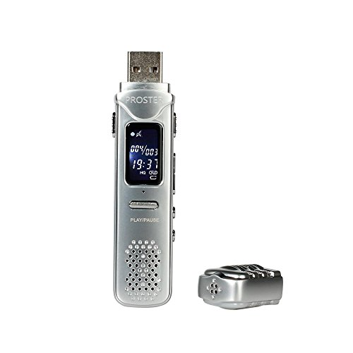Proster USB Voice Recorder Mini 8GB Rechargeable Digital Activated Recorder for Lectures Meetings Interviews