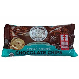 Equal exchange organic chocolate chips semi sweet, 10 oz 1 perfect for baking