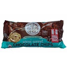 Equal Exchange Organic Chocolate Chips Semi Sweet, 10 oz 48 Organic Chocolate Chips
