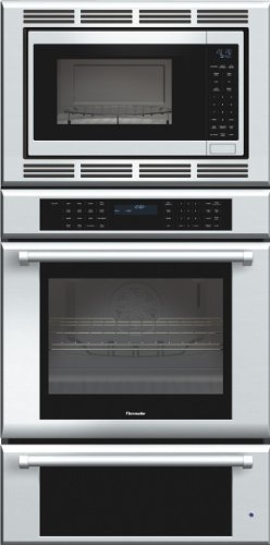Thermador MEDMCW31JP Triple Oven Masterpiece Oven plus Convection Microwave, Warming Drawer, 30 in. Pro Handle