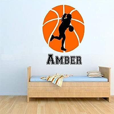Baloncesto femenino con nombre personalizado Jugador de baloncesto ...