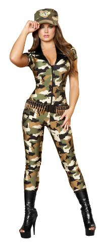 Roma Costume 2 Piece Camo Cutie Costume, Camouflage, Medium/Large (Army Ladies Costume)