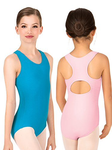 - Child Keyhole Back Tank Leotard N8860CMULL Mulberry Large