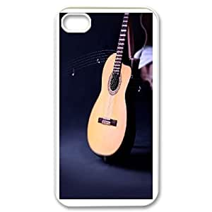 Cool Guitar Image On Back Phone Case For iPhone 4,4S