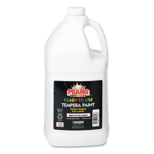 (DIX22809 Tempera Paint, Ready to Use, Nontoxic, 1 Gallon, White)