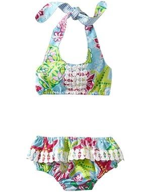 Baby-girls Newborn Lily Pad Bikini