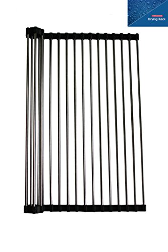 Roll-up Drying Rack, Large Size: 18.5 in x 14.1in  18/8 Stai