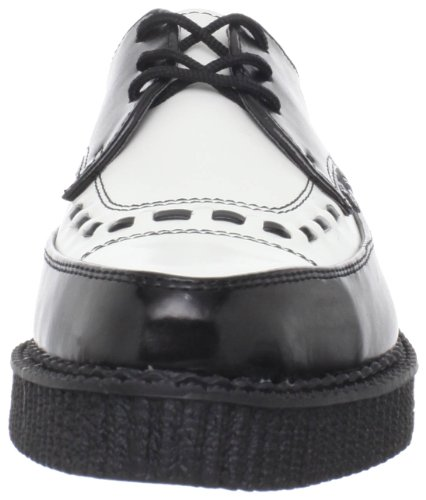 White Creeper Black T cuero de Zapatos A8140 Pointed U unisex K aanqvRI