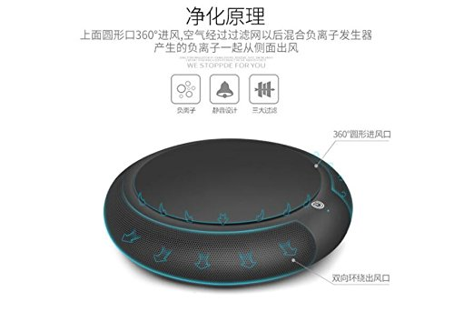 Renshengyizhan@ Car air purifier/in addition to the smell of formaldehyde pm2.5/Ion purifier/purifier gifts, Black by Renshengyizhan@