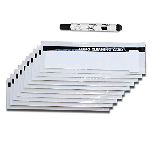 Enduro+/Rio Pro Printer Cleaning cards, Pack of 10 pcs Long T-Card and 1 Cleaning Pen CK-M9005-771/R
