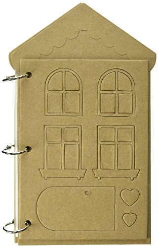 Prima Marketing Prima Mixed Media Chipboard Album, 6.5 by 11-Inch, House ()