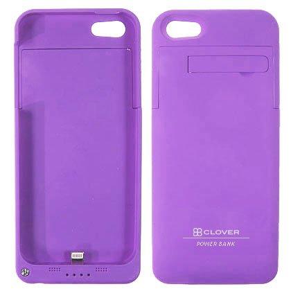 Clover Power Plus Rechargeable 2200mAH External Battery Case for iPhone SE, 5S, 5 (Grape)