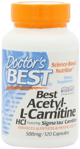 Doctor's Best Best Acetyl L-carnitine Featuring Sigma Tau Carnitine (588 mg), Capsules, 240 Capsules by Doctor's Best