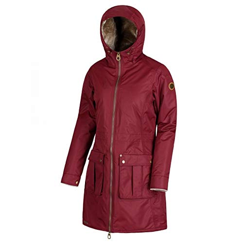 Regatta Womens/Ladies Romina Full Length Hooded Jacket Wine Red