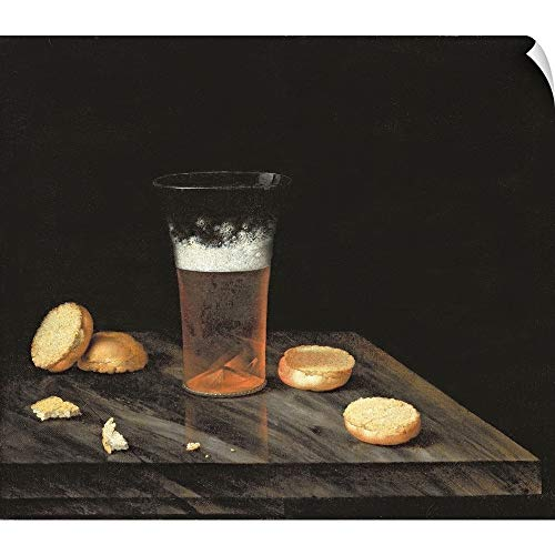 (CANVAS ON DEMAND Still Life with Beer Glass Wall Peel Art Print, 24