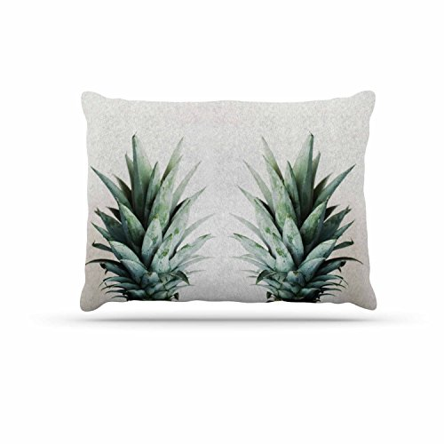 KESS InHouse Chelsea Victoria ''Two Pineapples'' Green Gold Dog Bed, 30'' x 40'' by Kess InHouse
