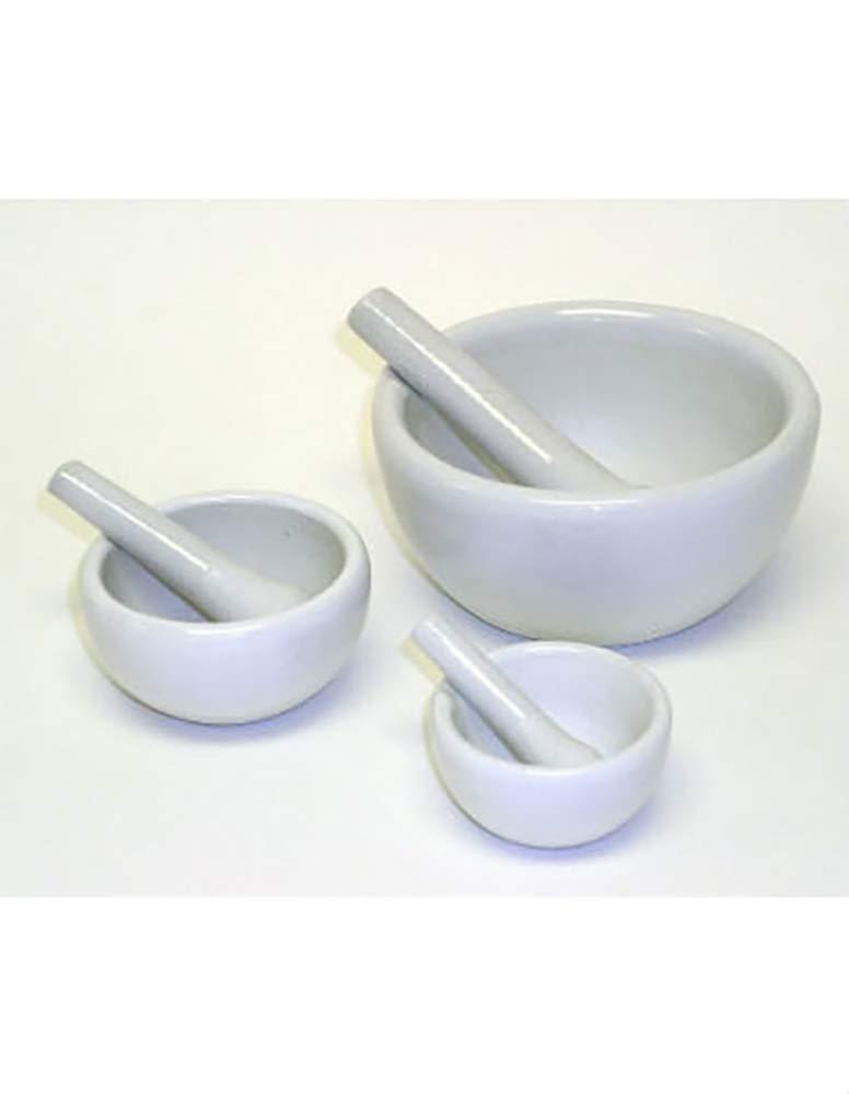 Mortar & Pestle Set, Porcelain, 100ml Capacity, 1 Set/Unit