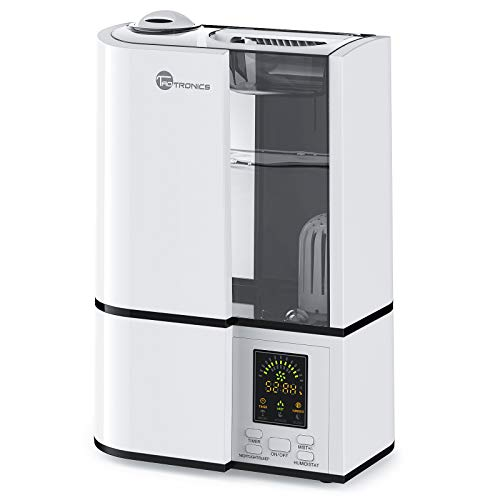 TaoTronics TT-AH001 Cool Mist Ultrasonic Humidifier for Home Bedroom, Quiet Operation, LED Display, with Filter, Waterless Auto Shut-Off, Grey-(4L/1.06 Gallon, US 110V), 3