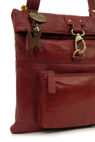 Cuero Collection Rojo Bolso bandolera DISPATCH Catwalk nIfxpwqPq