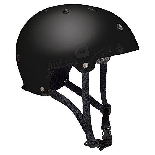 K2 Skate Unisex Jr Varsity Inline Skate Helmet, Matte Black, Medium (Jr In Skate Helmet Line)