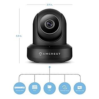 Amcrest Hdseries 720p Wifi Ip Video Security Surveillance Camera, Plugplay, Pantilt, Two-way Audio & Night Vision Ipm-721b (Black) 13