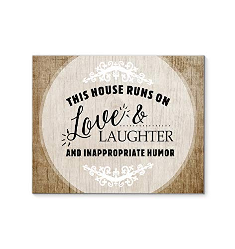DesDirect Store This House Runs On Love and Laughter Canvas Art Wall Decor 1.25in Frame - Landscape Wall Art Home