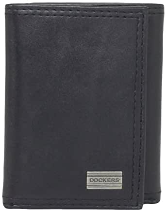 Dockers Men's Extra Capacity Trifold Wallet, Black, One Size