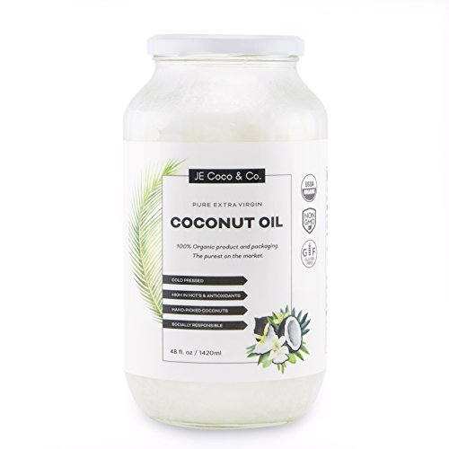 Organic Coconut Oil - Unrefined Cold Pressed Coconut Oil for Hair, Skin, and Cooking (1500ml)