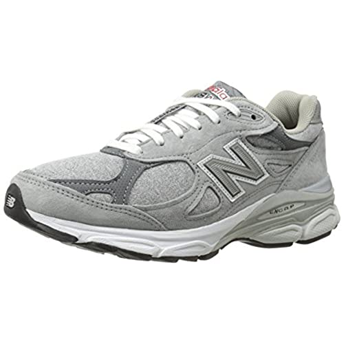 New Balance Women's W990V3 Running Shoe, Heather Grey, 6.5 B US