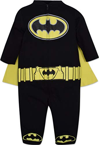 Warner Bros. Batman & Superman Baby Boys' Costume Coveralls with Cape (Best Baby Boy Halloween Costumes)