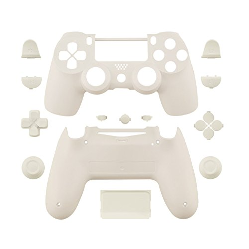 WPS Matte Controller Case Collection Full Housing Shell + Full buttons for PS4 Playstation Slim Pro (JDM-040) controller (white)