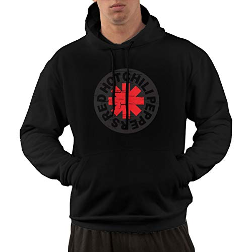(Starcl Mens Red Hot Chili Peppers Classic Hoodie Sweatshirt Kangaroo Black M)