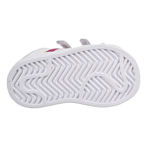 Adidas Originals Baby Superstar CF I Sneaker, White/Bold Pink/White, 10 M US Toddler