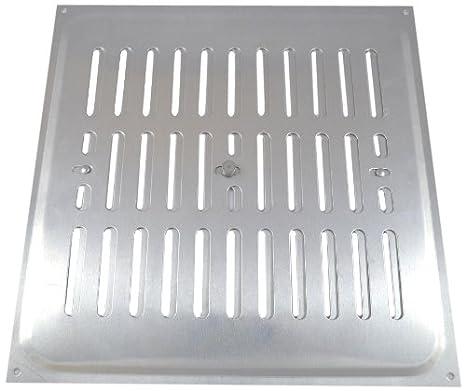 Bulk Hardware BH00534 Grille de ventilation coulissante en Acier Inox 229 x 77 mm