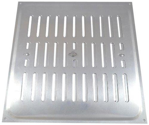 Bulk Hardware Rejilla de ventilaci/ón con apertura regulable aluminio, 229 x 229 mm