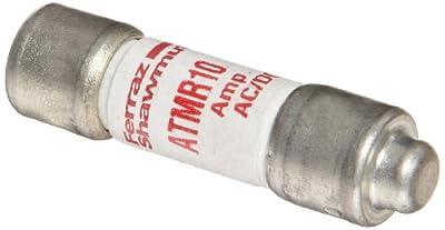 Cal Test Electronics CT3214 Digital Multimeter Probe High Capacity Fuse, 600V, 200kA, 10mm Diameter x 38mm Length (Pack of 10)