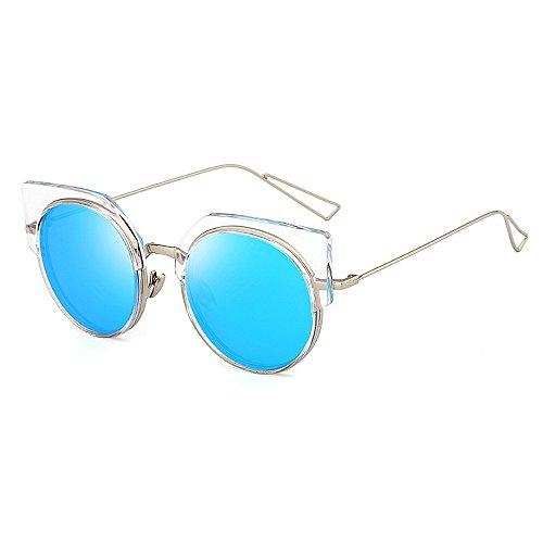 Ultravioleta Playa exquisitas Peggy sin Color Azul Conducir Rosado Semi rebordes de Gafas Ojos Sol Gato Verano de de los la Vacaciones Protección Mujeres para del Las Gu de para Las wTrTqSI