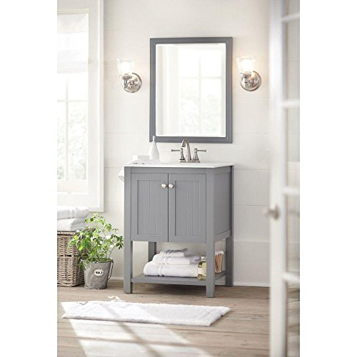 Cranbury 30 in. L x 24 in. W Framed Single Wall Mirror in Co