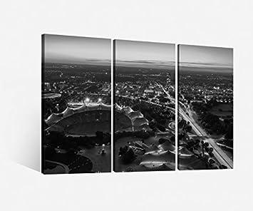 """Bild auf Leinwand /""""Skyline München/"""""""