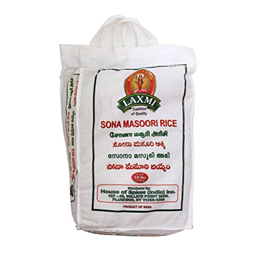 Laxmi Sona Masoori Rice & Laxmi Toor Dal Bundle - (10lb Rice and 4lb Dal) by Laxmi (Image #3)
