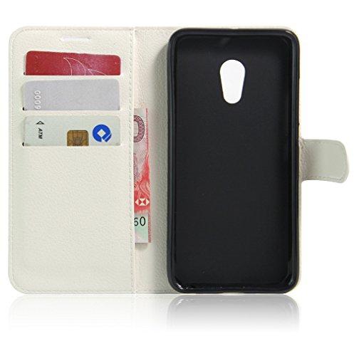 Funda MEIZU E,Manyip Caja del teléfono del cuero,Protector de Pantalla de Slim Case Estilo Billetera con Ranuras para Tarjetas, Soporte Plegable, Cierre Magnético C