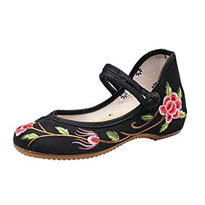 RAINED-Women Flats Shoes Chinese Embroidery Ballet Lofers Cloth Shoes Slip on Comfortable Bohemia Round Toe Flats Shoes