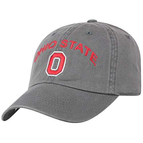 Ohio State University Top - Top of the World Ohio State Buckeyes Men's Hat Arch, Charcoal, Adjustable